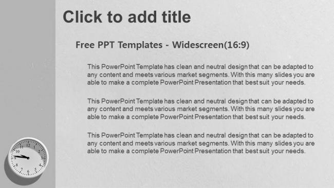 Diapositivas plantilla powerpointTiempo 4 Relojes