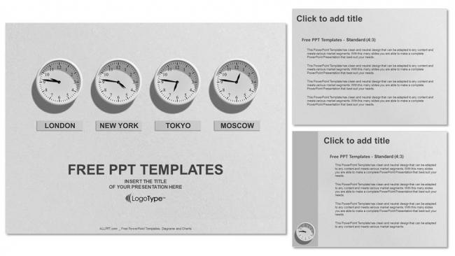 Descargar Presentaciones plantillas powerpointTiempo 4 Relojes