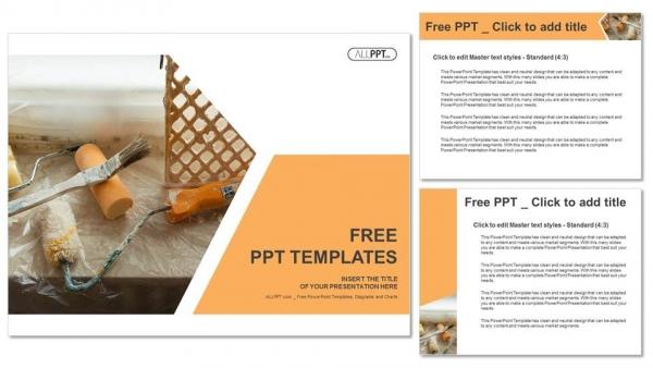 Diapositivas plantilla powerpointHerramientas y accesorios para la renovación del hogar