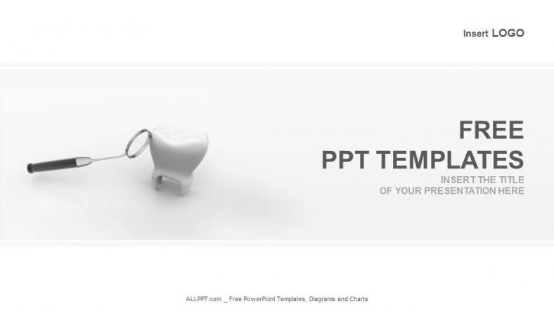 Diapositivas plantilla powerpointDiente y espejo dental