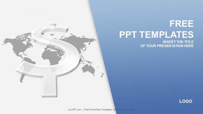 Presentaciones plantilla powerpointSigno de Dólar Transparente