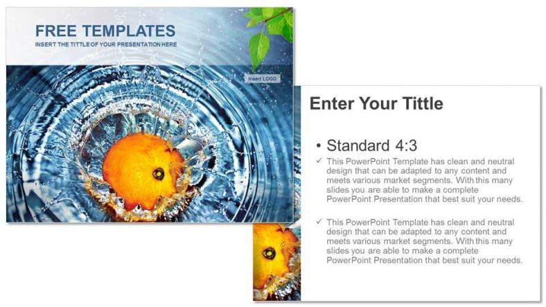 Presentaciones plantilla powerpointAgua con Naranja