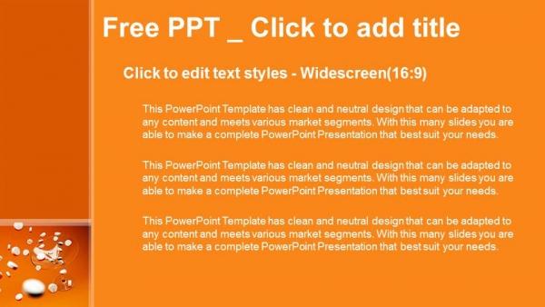 Presentaciones plantilla powerpointPíldoras blancas
