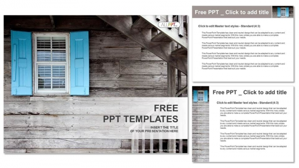 Diapositivas plantilla powerpointPersianas de madera
