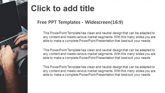 Powerpoint para presentacionesTrabajar en el portátil