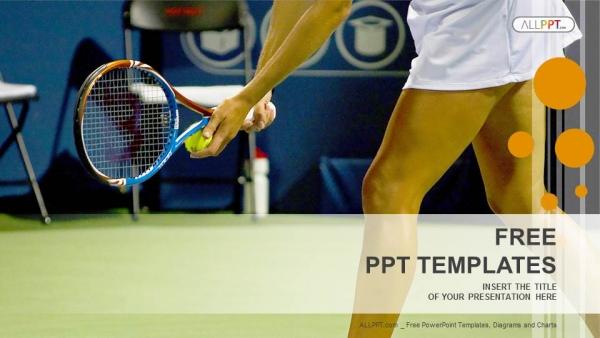Diapositivas plantilla powerpointJoven tenista femenina
