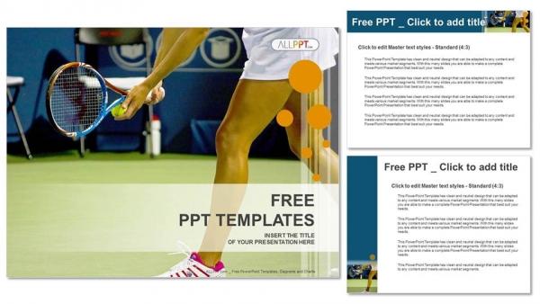 Powerpoint para presentacionesJoven tenista femenina