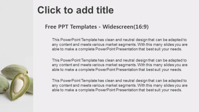 Powerpoint para presentacionesprimer plano de almendras