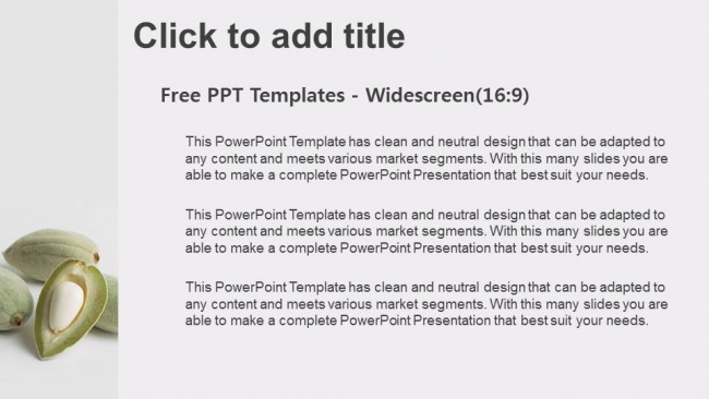 Diapositivas plantilla powerpointDetalle de las almendras