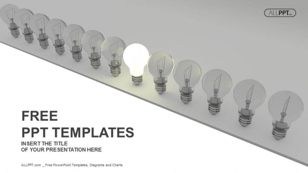 Diapositivas plantilla powerpointConcepto de idea brillante con bombilla