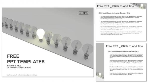 Descargar Presentaciones plantillas powerpointConcepto de idea brillante con bombilla