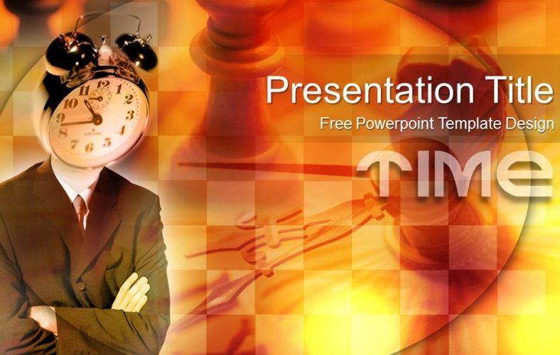 Plantilla Powerpoint: Cabeza de reloj