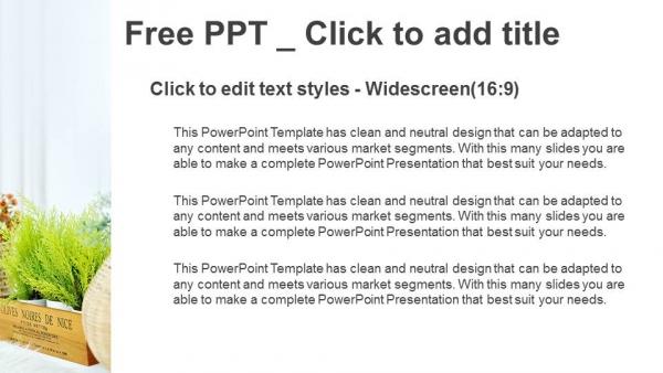 Descargar Presentaciones plantillas powerpointSe muestra una maceta pequeña